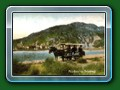 Early postcard of horse tram trhat became the Fairbourne Railway